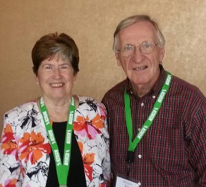 Photo of Ken with former Virginia Senator Mary Margaret Whipple who is on the board of the National Caucus of Environmental Legislators.