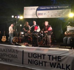 "Photo of Congressman Gerry Connolly and Delegate Ken Plum at the Leukemia & Lymphoma Society's ""Light the Night Walk"" in Reston."