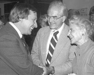 Photo of Delegate Ken Plum with the late Congressman Joseph Fisher and the late Delegate Dorothy S. McDiarmid in the early 1980s.