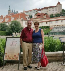 Photo of Delegate Ken Plum and his wife Jane Plum in Prague