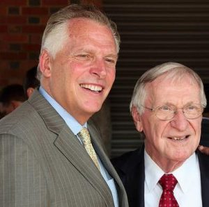 Photo of Governor Terry McAuliffe and Delegate Ken Plum