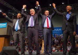 Photo of Obama with Northam, Fairfax and Herring