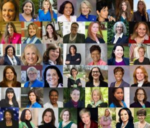 Photo of Democratic women who ran for House seats in Virginia 2017