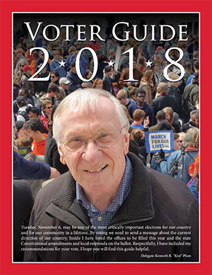Cover of Ken Plum's 2018 Voter Guide.