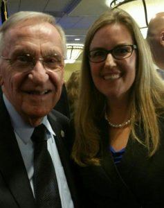 Photo of Delegate Ken Plum and Congresswoman-Elect Jennifer Wexton