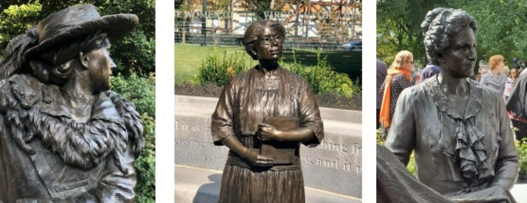 photos of statues from Women's Memorial
