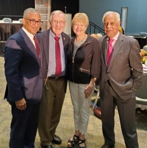 photo of Delegate Plum, Jane Plum, Congressman Bobby Scott and former Governor L. Douglas Wilder